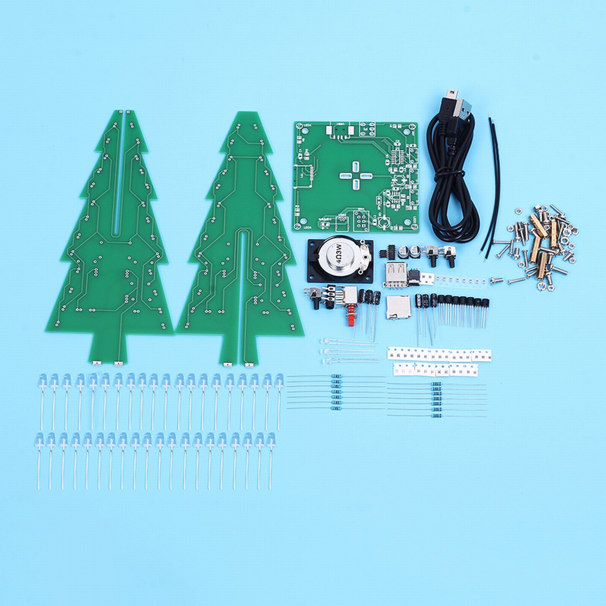 Diy Xmas Tree Rgb Flash Light Support Mp312368 From Icstation On How Christmas Lights Switch And Circuit Work 4
