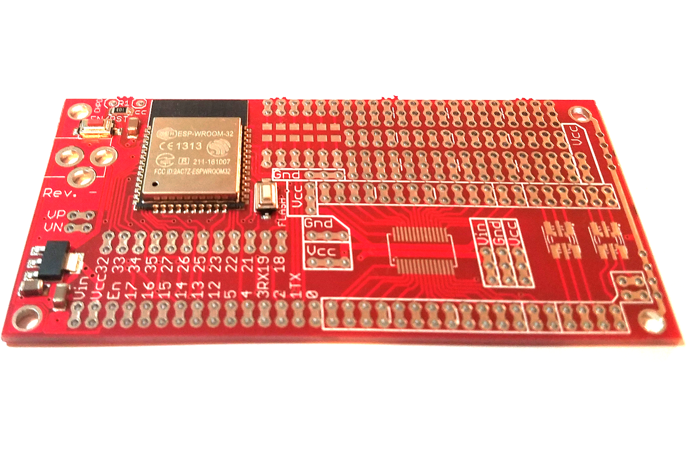 Esp32 Project Prototyping Board From Azzys Electronics On Tindie And Now Also A Picture Of The First Prototype For This Circuit 3