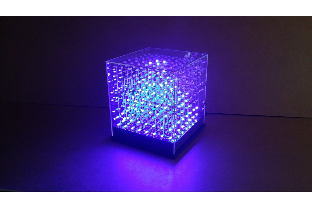 jolliCube – 8x8x8 LED Cube (SPI) DIY Kit 1