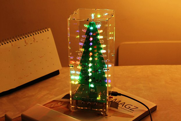 DIY Xmas Tree RGB Flash Light Support MP3(12368)