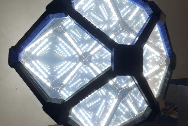 Rhombic Dodecahedron Infinity Mirror-Customizable