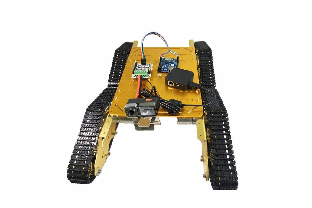Arduino-compatible four wheels drive tank chassis 2
