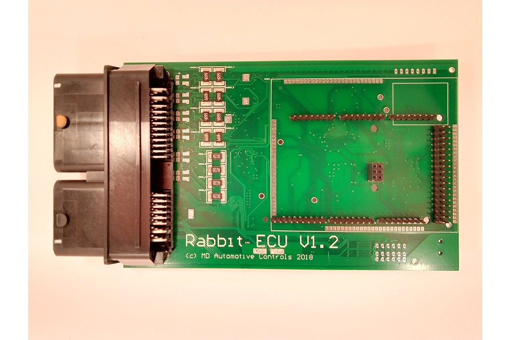 Rabbit ECU V1.2 Populated PCB with Arduino Sockets 1