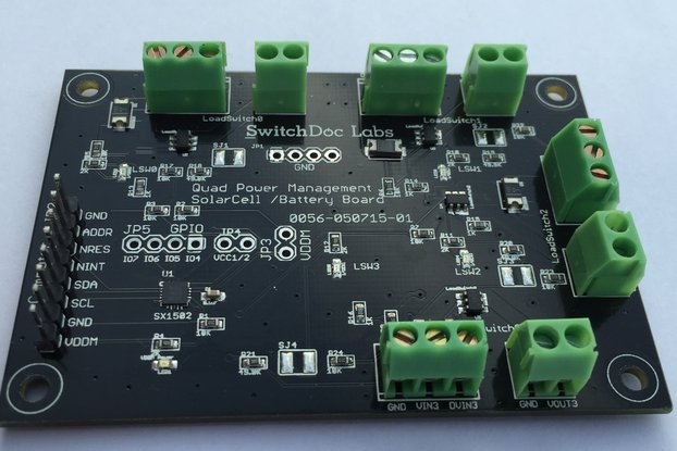 Quad Power Management I2C Breakout Board