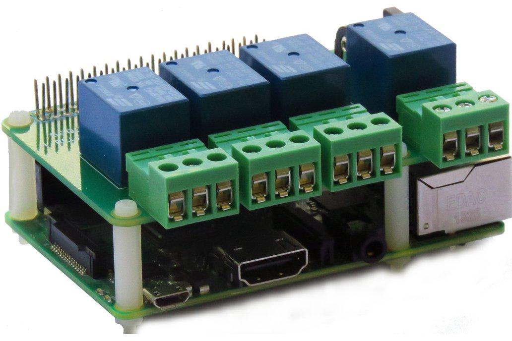 4-RELAYS Heavy Duty Stackable Card for Raspberry P 1