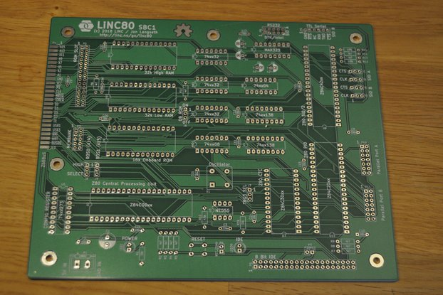 LiNC80 SBC1 - PCB Only - Homebrew microcomputer