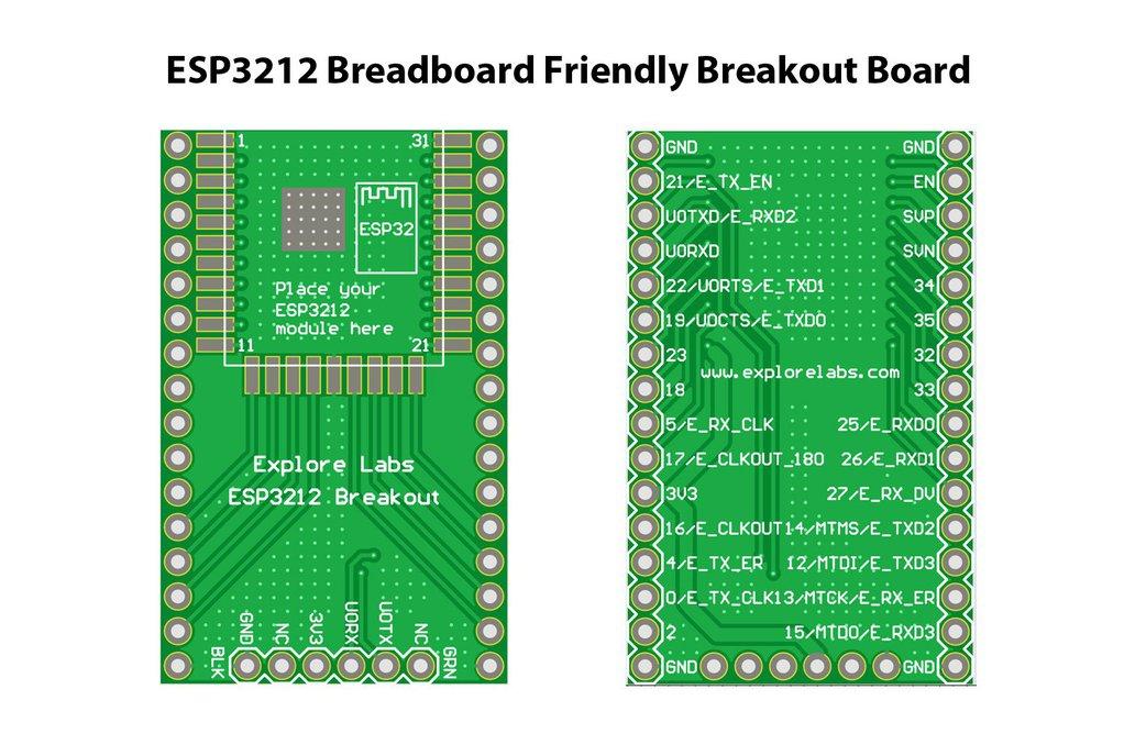 ESP3212 Breadboard Friendly Breakout Board 3