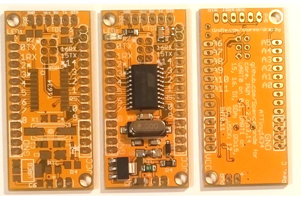 ATtiny1634 dev. board w/Optiboot (assembled) 3