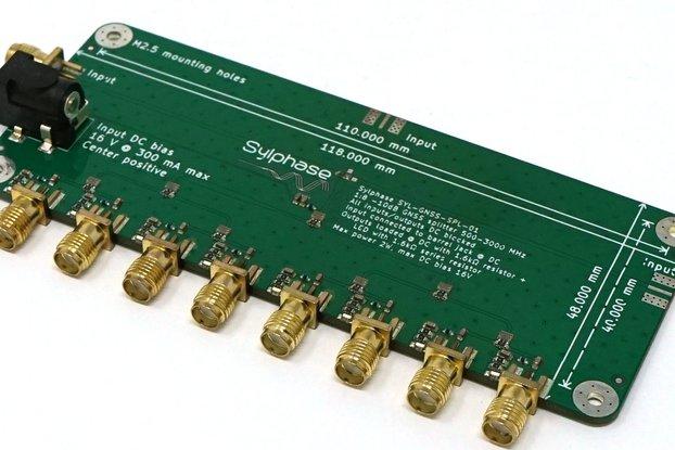 GNSS GPS 500MHz-3GHz 8-Way SMA Passive RF Splitter