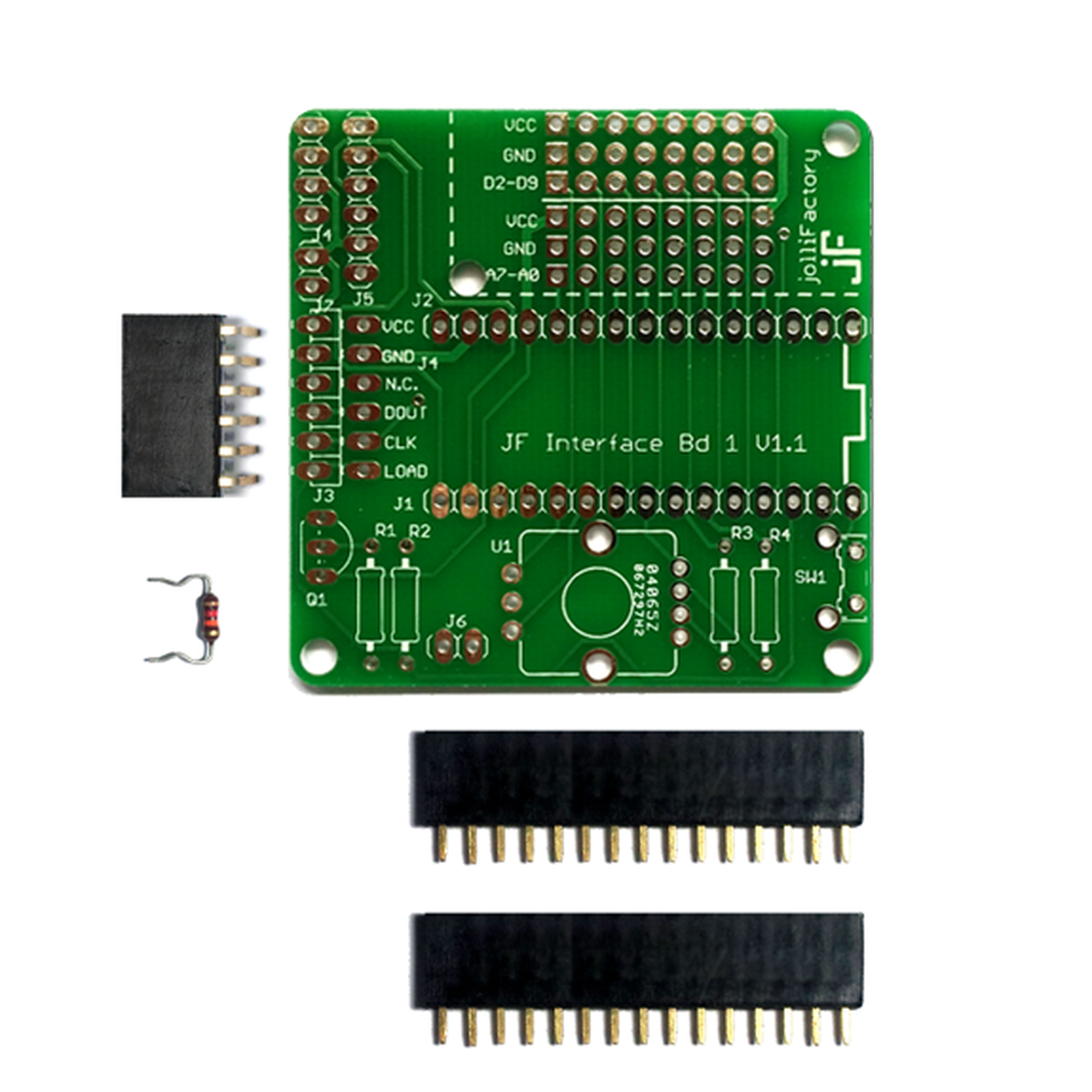 Jf Interface Board 1 Bare Pcb With Headers From Jollifactory Best Sell Circuit Diagram Buy 2