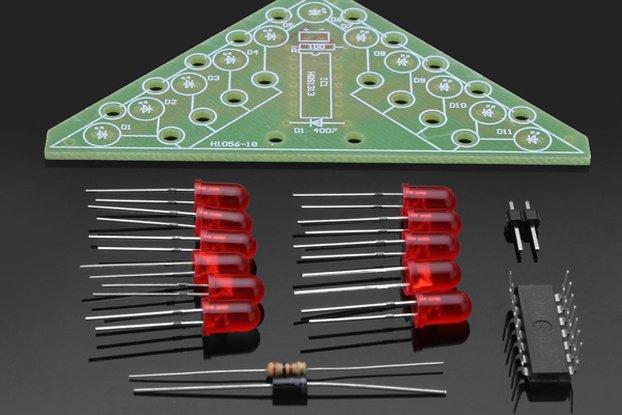 6Pcs DIY Electronic Christmas Tree Learning Kit