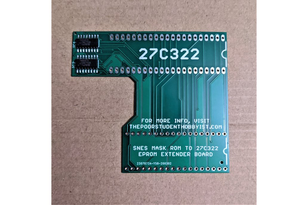 SNES to 27C322 Extended Adapter Board 1