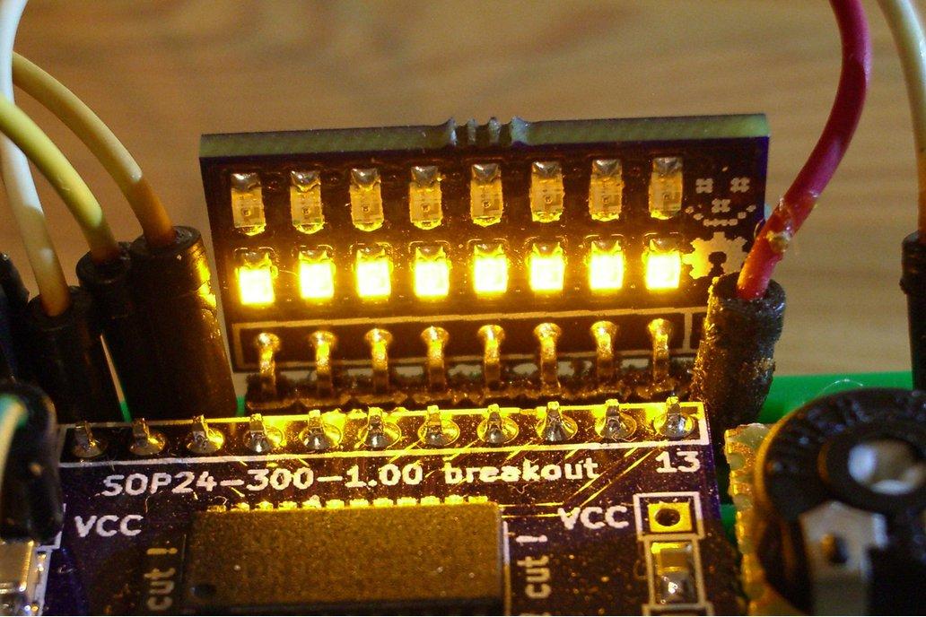 8-bit LED indicator 3