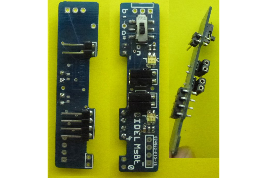 Mini-shield for two motors with LEDs and powerOff 6