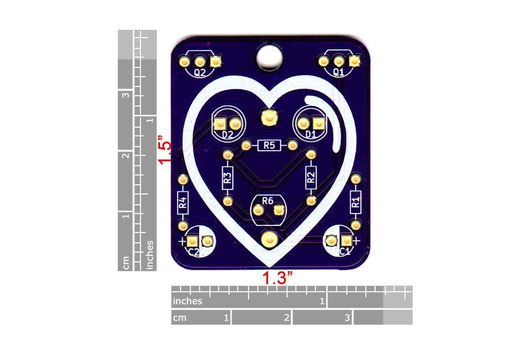 Heart: Wearable Blinky-Board Soldering Skills Kit 3