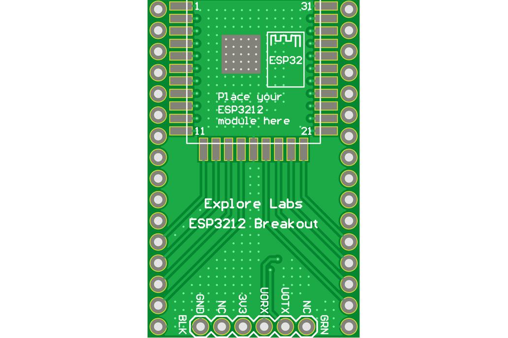 ESP3212 Breadboard Friendly Breakout Board 4