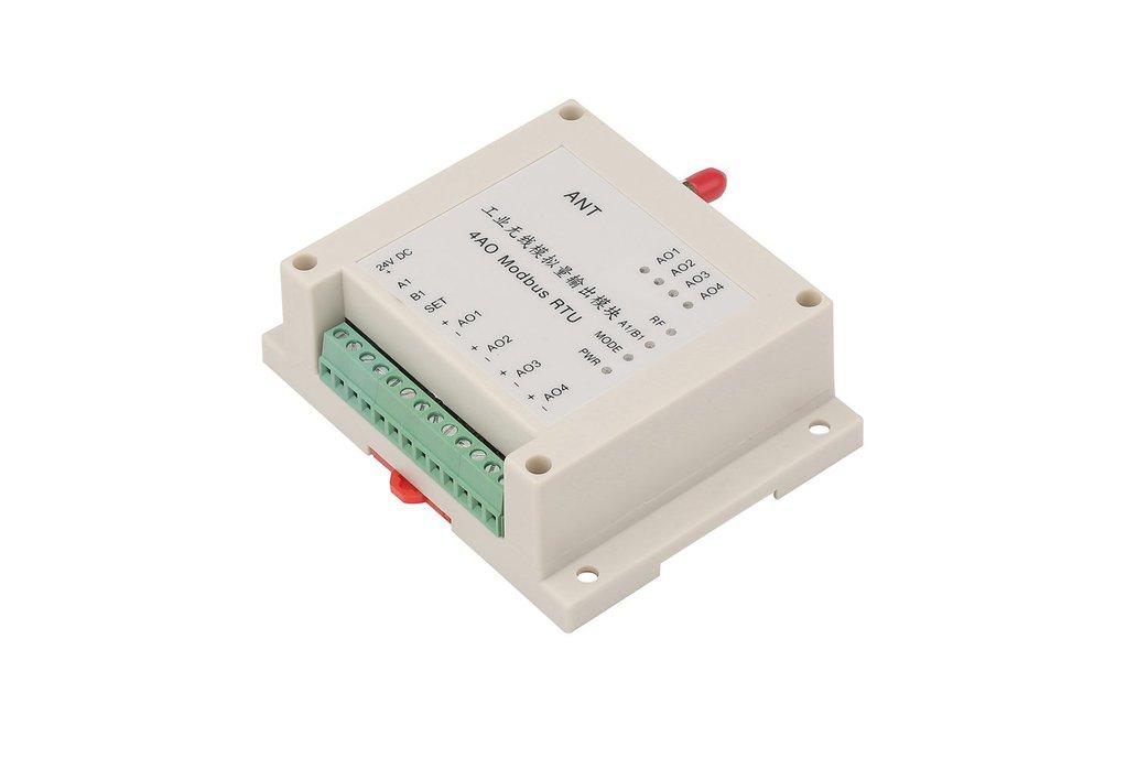 Wireless analog output module 4AO 0-5V or 4-20mA 1