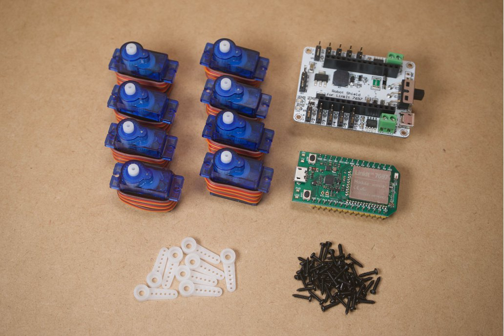 DIY Parts for Q1 mini quadruped robot 2