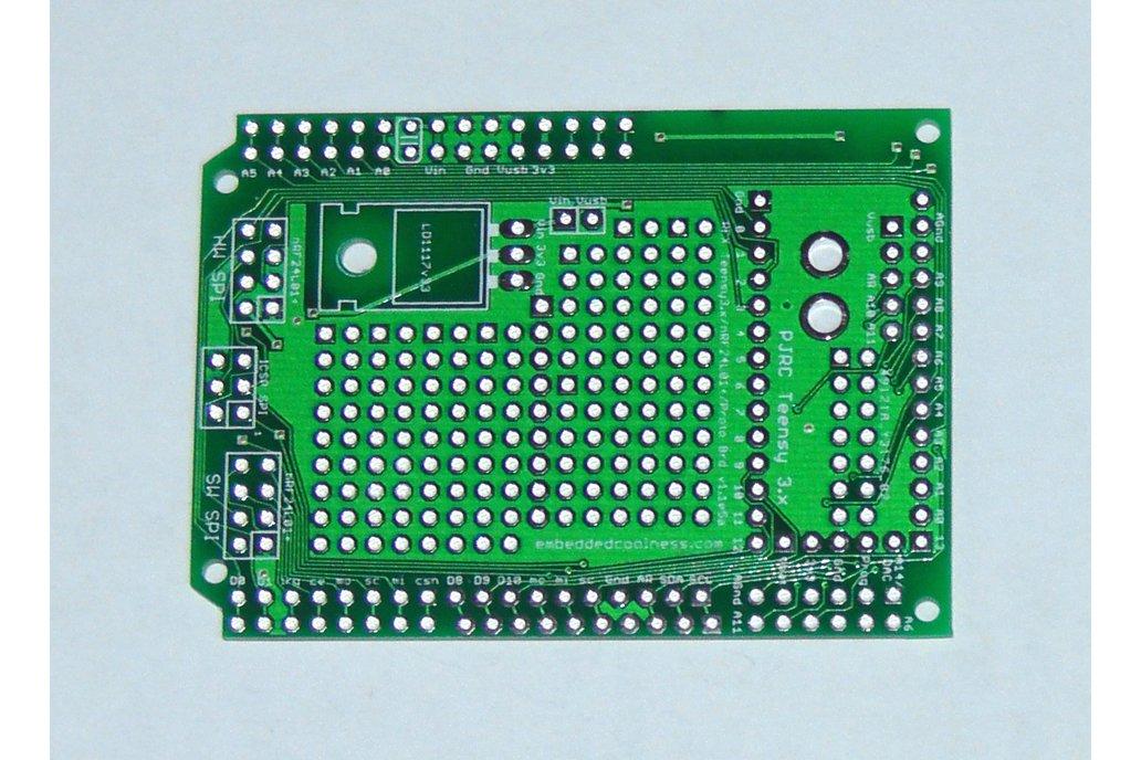Teensy 3/LC Proto board, Arduino Shield, nRF24L01+ 2