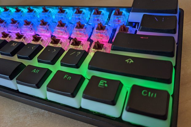 PyKey60 - RGB Keyboard PCB with a RP2040