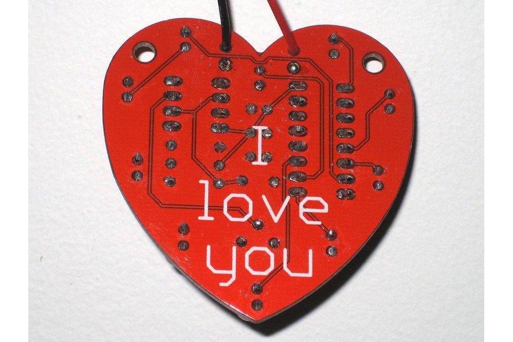 Heart-Shaped LED Chaser (Bare PCB) 2
