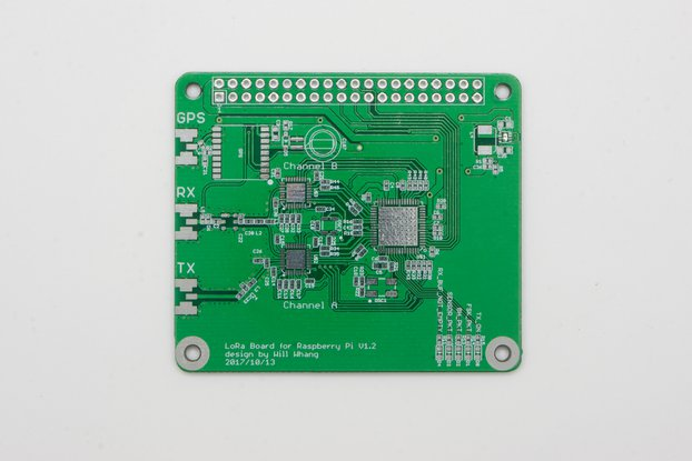 SX1308 Raspberry Pi LoRa Gateway Board - Bare PCB