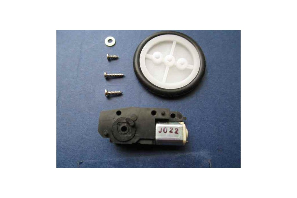 Tiny geared motor with tire/pulley for NanoBoard AG 1