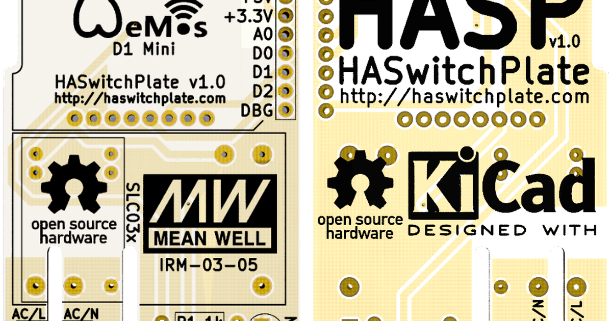 HA SwitchPlate (HASP) PCB by Derusha Digital Designs on Tindie