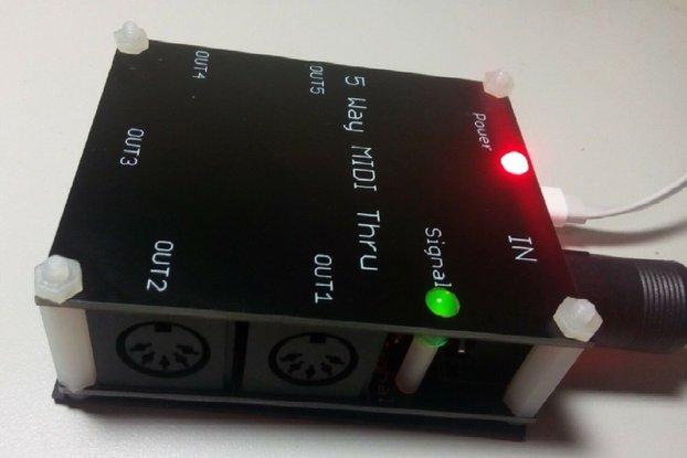 5 way MIDI Thru Splitter unit