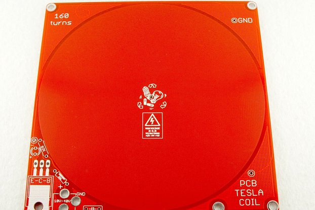 PCB etched TESLA coil v3B