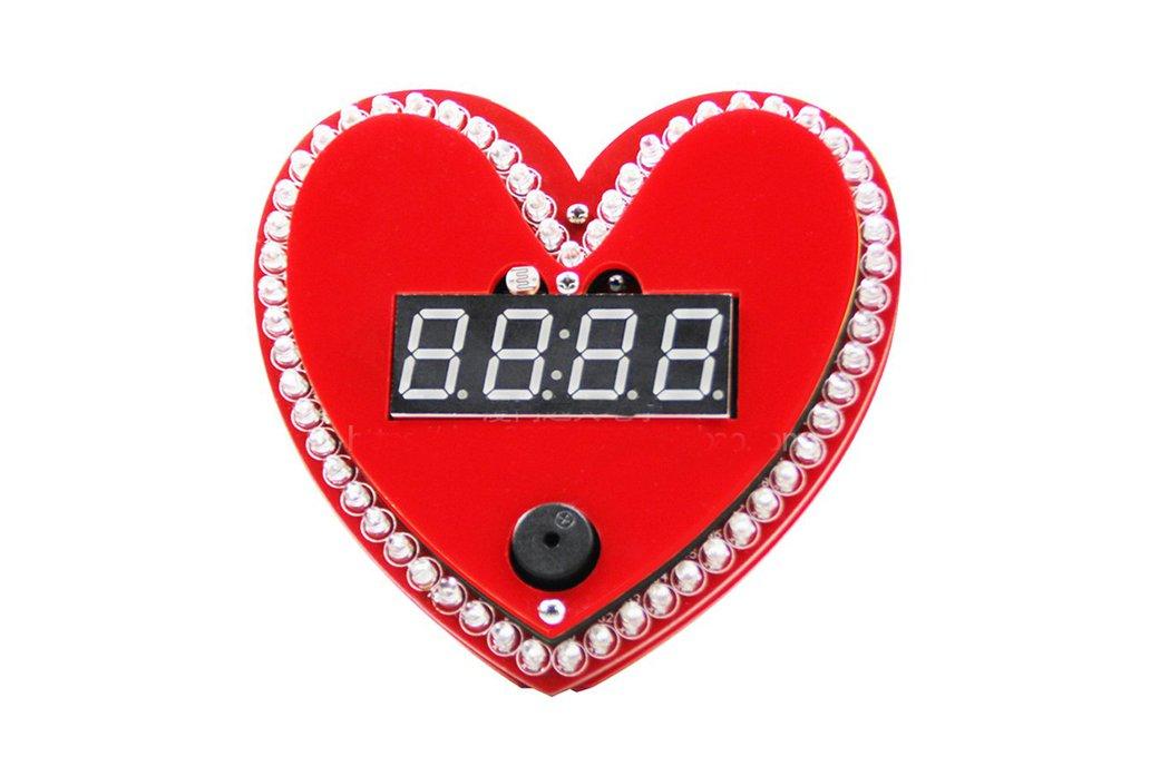 Heart shaped clock diy kit 1