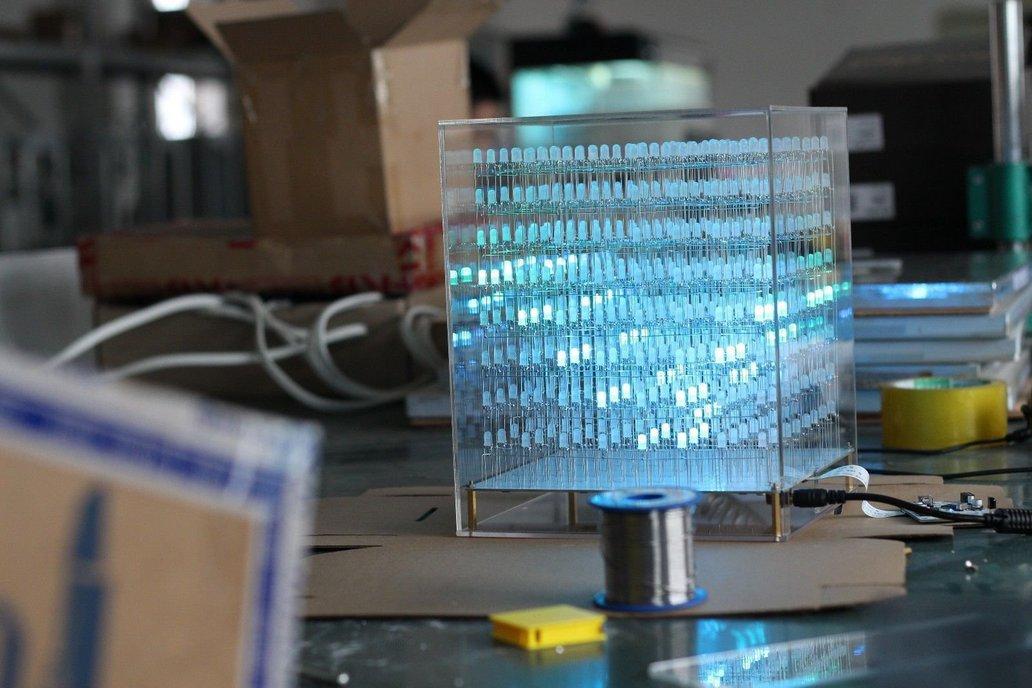 AuraCube 8x8x8 3D RGB LED Cube DIY Kit 2