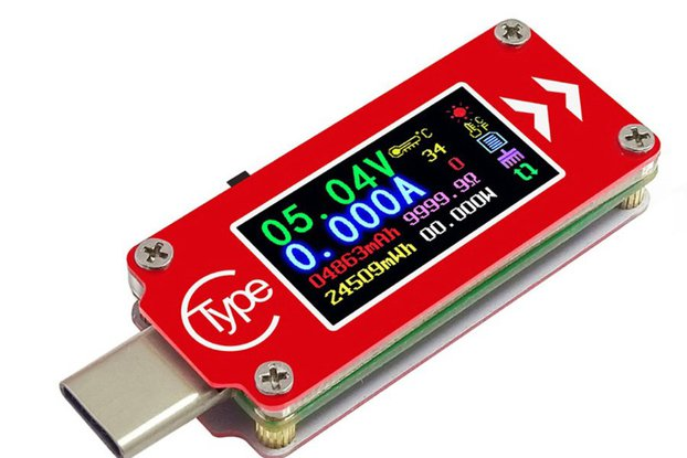 Type-C USB Voltmeter ammeter voltage current meter