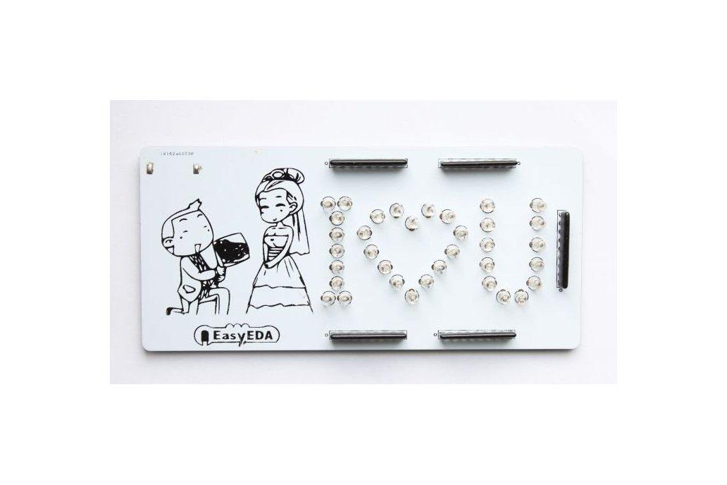 """DIY Romantic Marry Me """"I♡U""""  PCB board  1"""