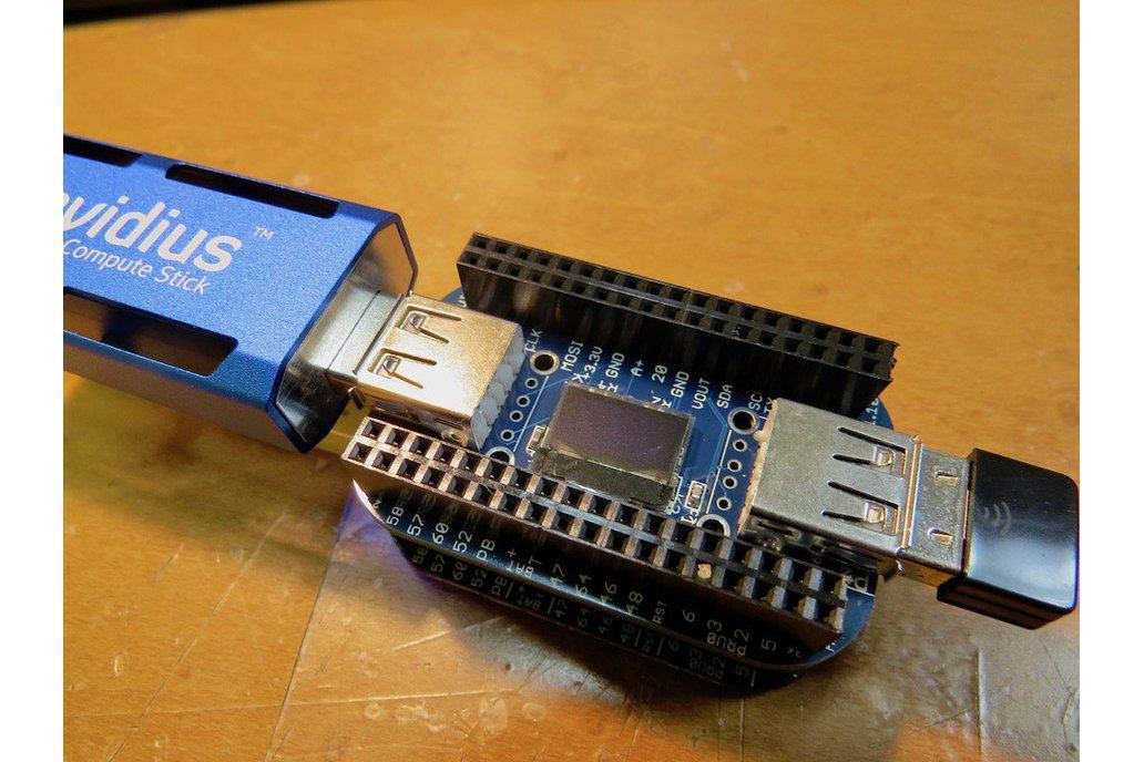OLED with 2/4-port USB HUB cape for PocketBeagle 3