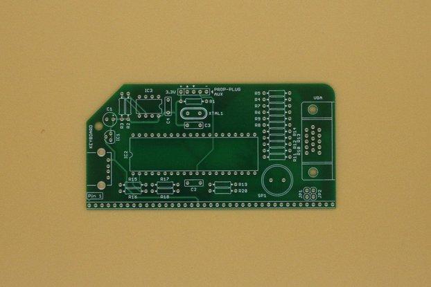 VGA Serial Terminal PCB for RC2014