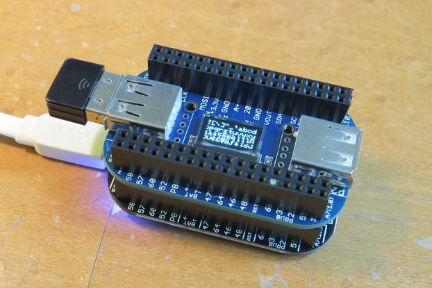OLED with 2/4-port USB HUB cape for PocketBeagle