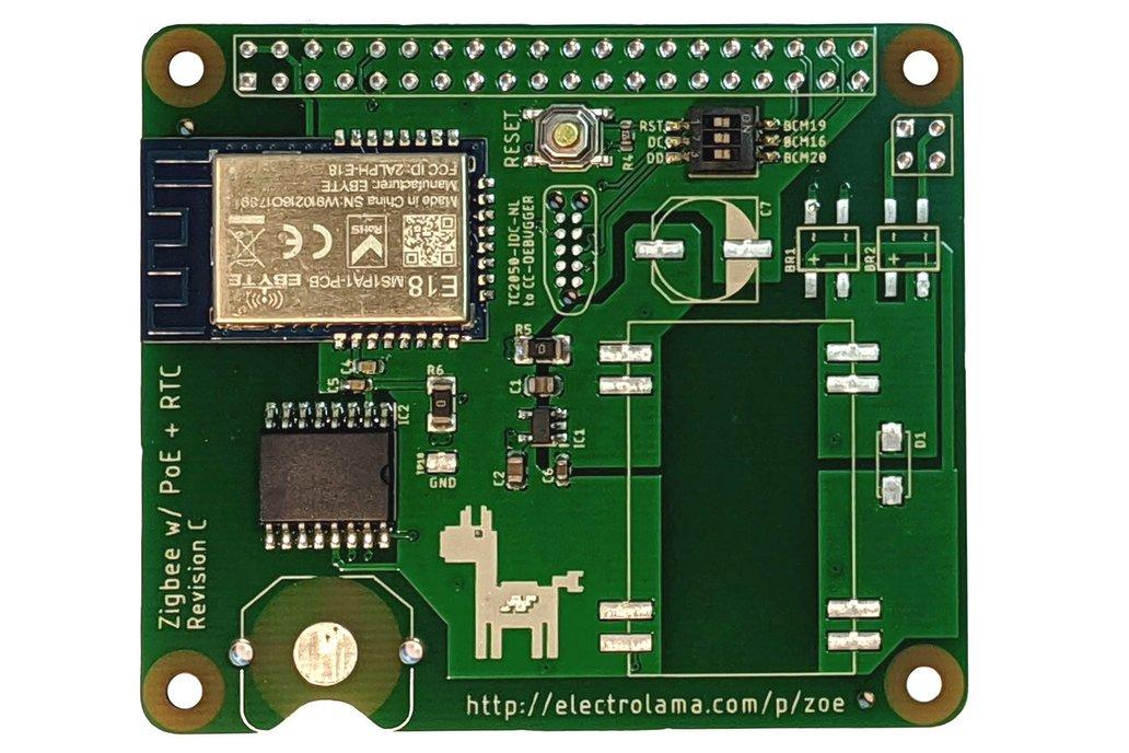 zoe RTC - Zigbee Radio and RTC for Raspberry Pi 1