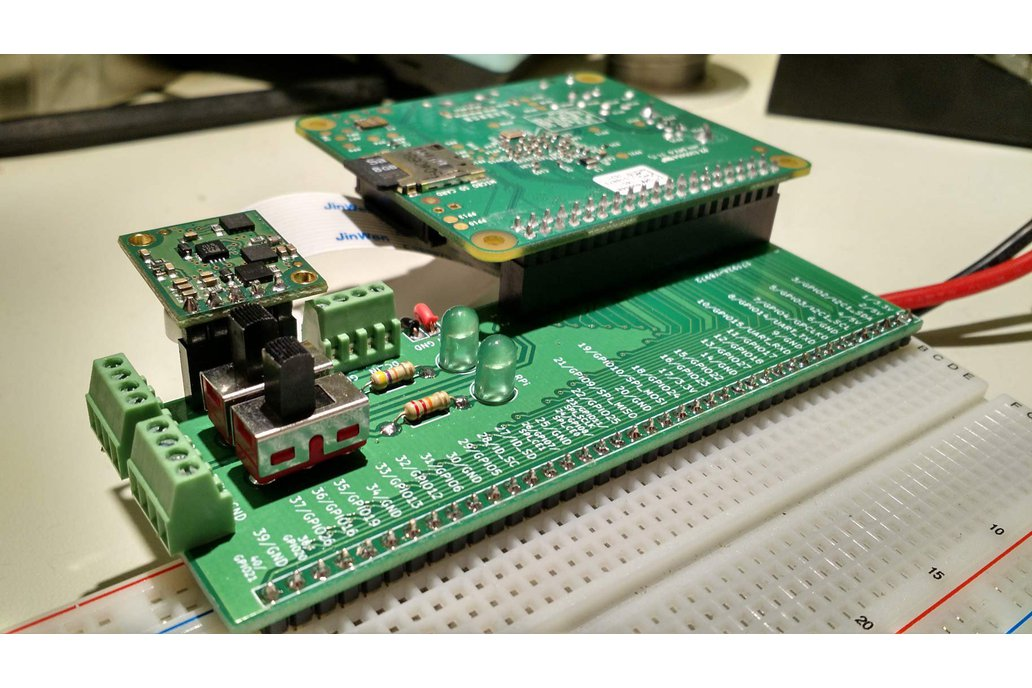 Raspberry Pi (40 pin) Breadboard Adapter 1