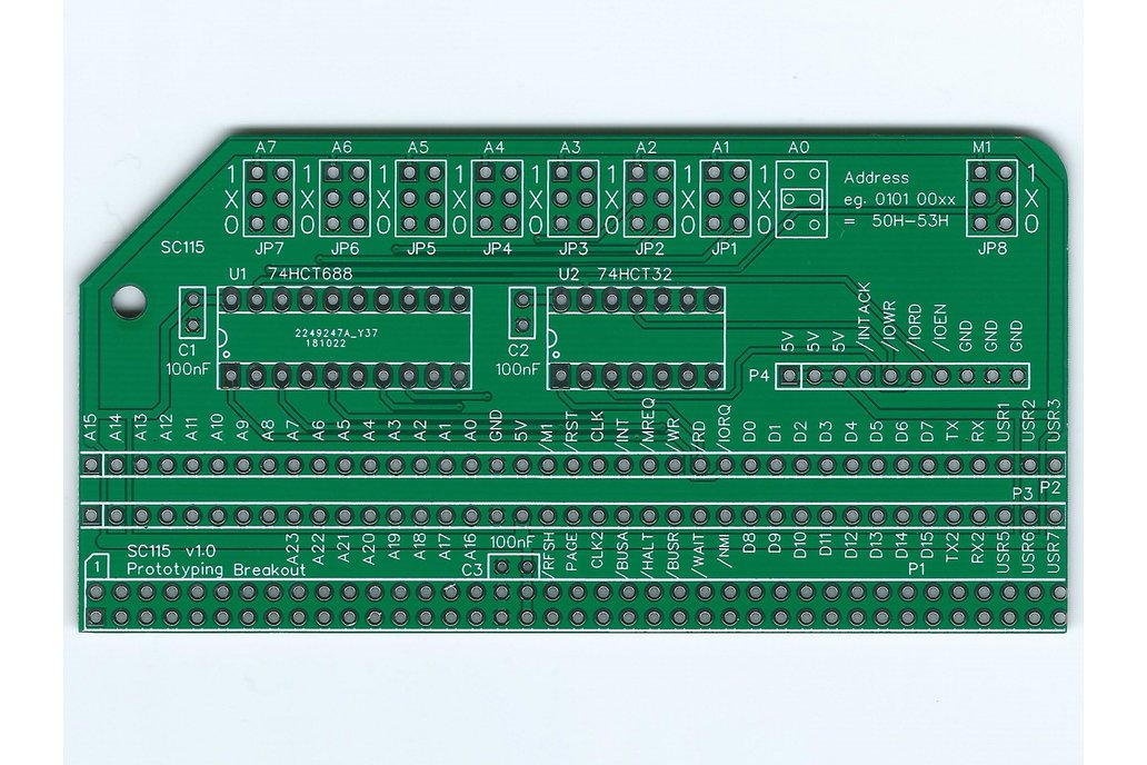 SC115 Prototyping Breakout Board for RC2014 1