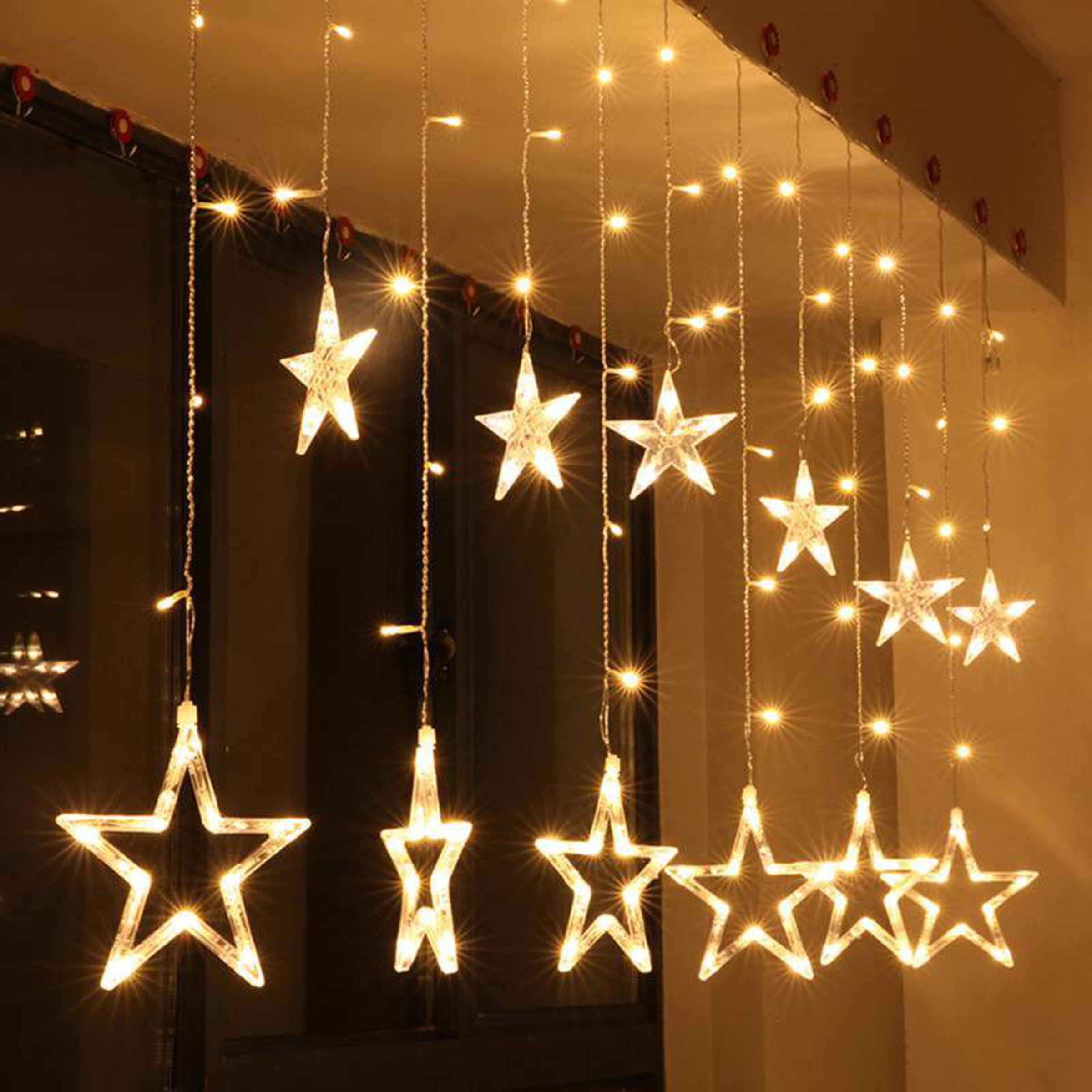 Lights And Displays On Tindie Ledchristmaslightingusingtransistors Sale Christmas Fairy Star Led Curtain String