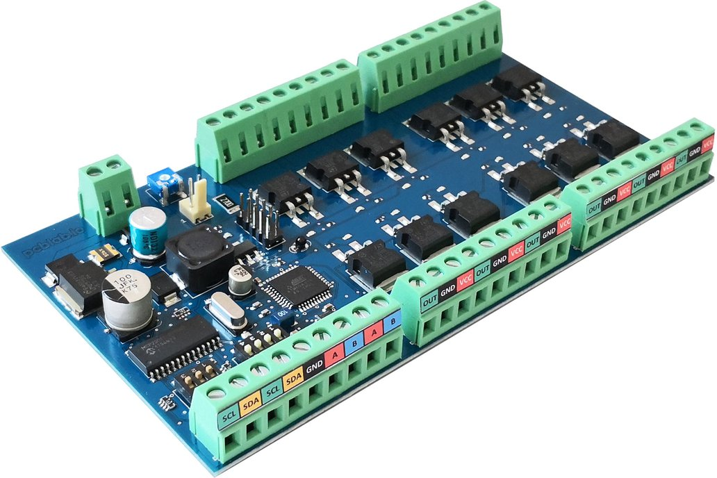 Open drain Power Board® for Arduino- i2c - MODBUS 1