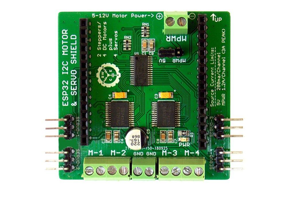 Quad Motor & Servo Shield for ESP32 Project Board 1