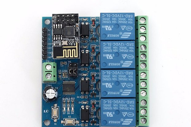 DC 12V ESP8266 WIFI 4-Channel Relay Module (13405)