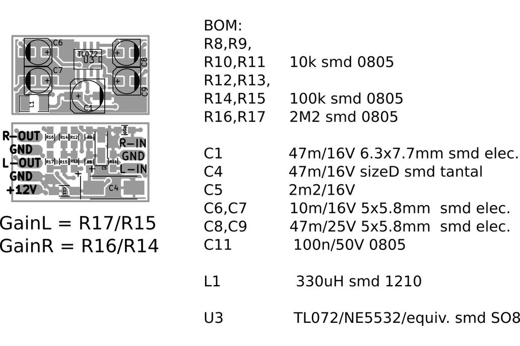 single voltage audio preamplifier 6