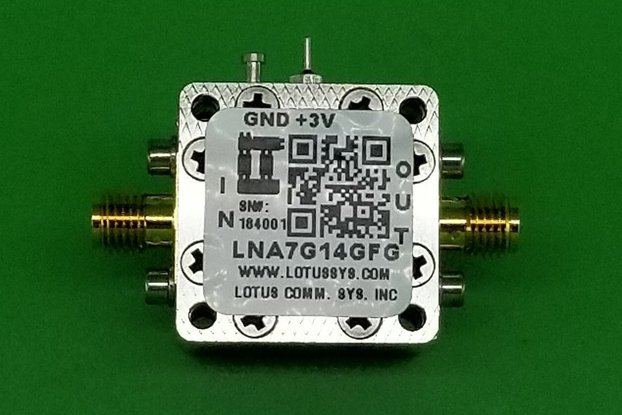 Amplifier LNA 1.8dB NF 7GHz to 14GHz