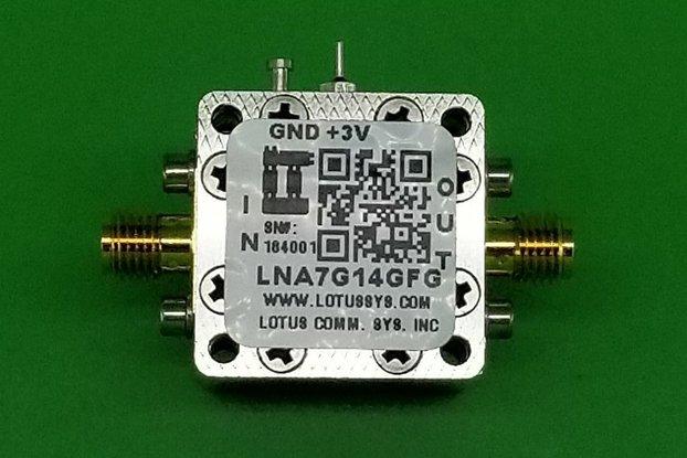 Amplifier LNA 1.8dB NF 7GHz to 14GHz