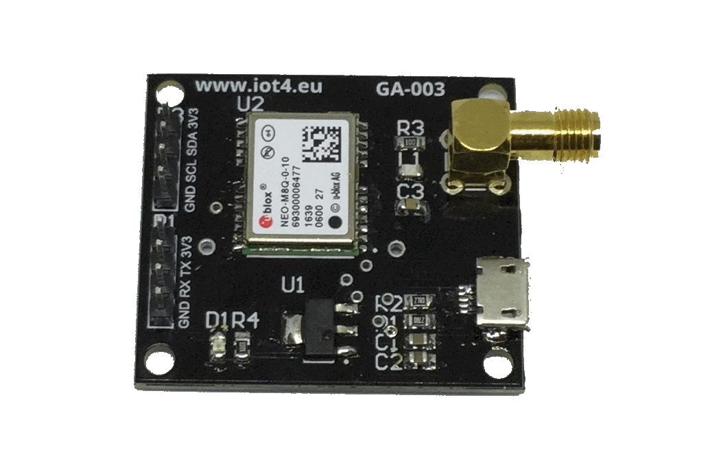 GA-003 NEO-M8 based GNSS receiver dev board 1