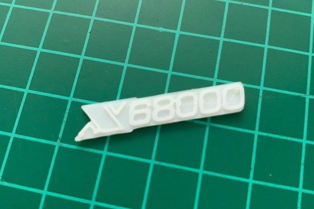 Sharp X68000 logo 3D Printed PLA White Real Size