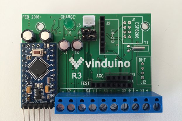 Vinduino remote sensor station board